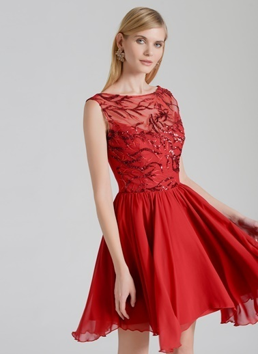 Özlem Erkan Elbise Kırmızı